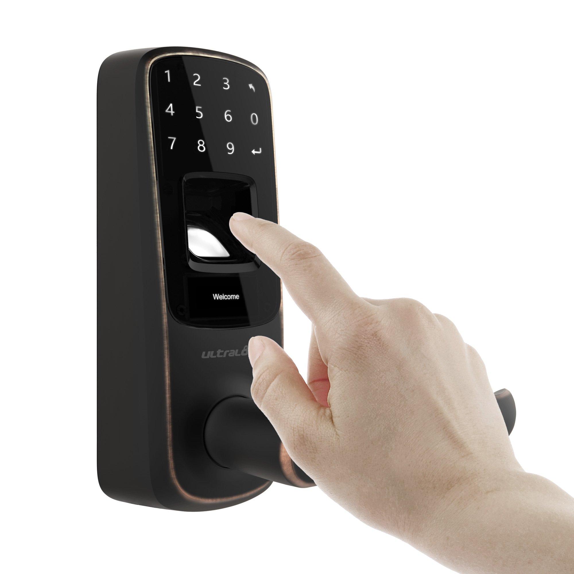 Ultraloq UL3 BT Bluetooth Enabled Fingerprint and Touchscreen Smart Lock (Aged Bronze) by Ultraloq (Image #4)