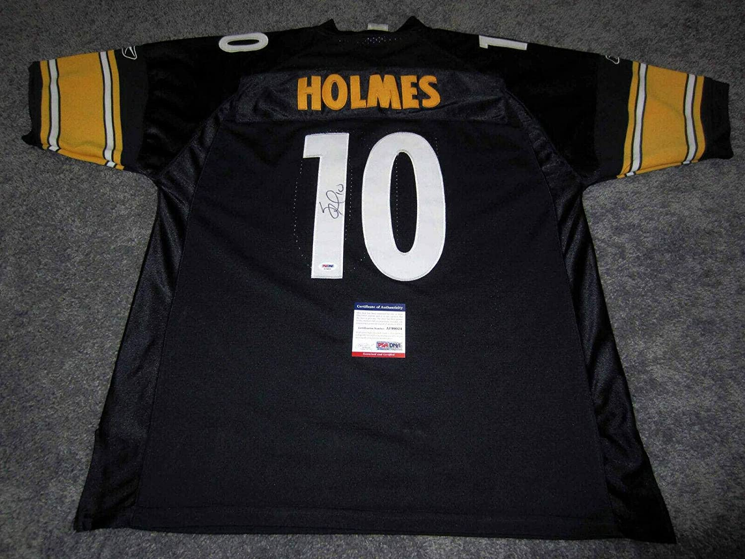 SANTONIO HOLMES Pittsburgh Steelers Autographed SIGNED Jersey w ...