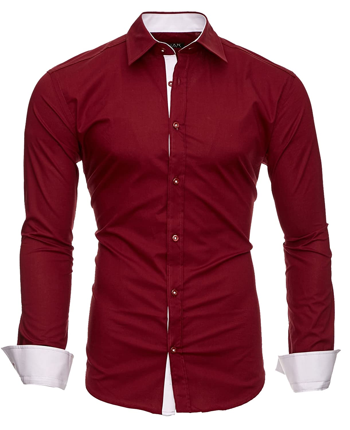 Kayhan Men´s Long Sleeve Casual Shirt Slim fit Easy Iron Modell - Twoface + London: Amazon.co.uk: Clothing