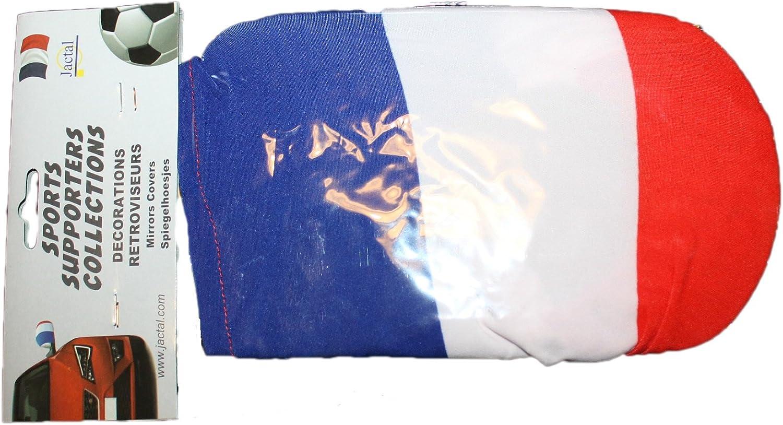 jactal-lot de 2 chaussettes r/étroviseur france-bleu blanc rouge-mixte