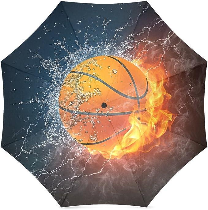 Los padres/Hermanos/amigos Regalos Cool baloncesto en fuego y agua ...
