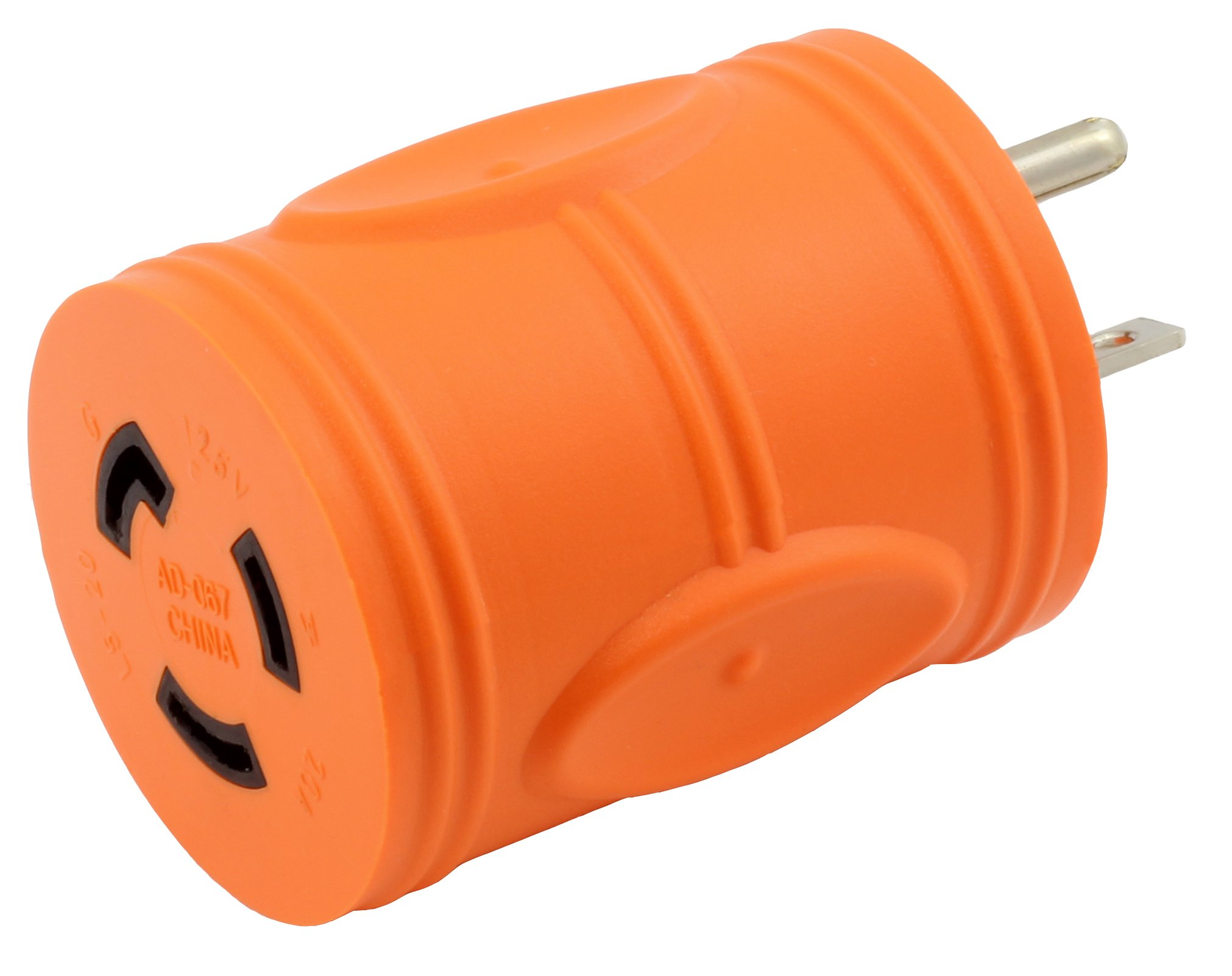 AC WORKS [AD520L520] Locking Adapter 5-20P 20Amp Househole Male Plug to Locking L5-20R Female Connectors Adapter
