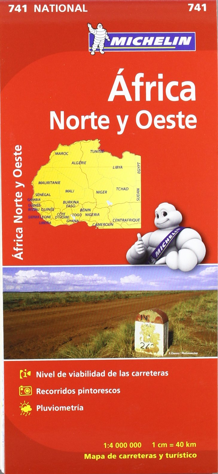 Mapa National Africa Norte y Oeste Mapas National Michelin: Amazon ...