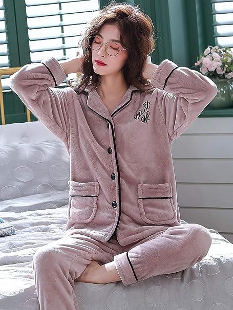 Bayrick Pijama Invierno Mujer calentito, Pijamas de Invierno ...