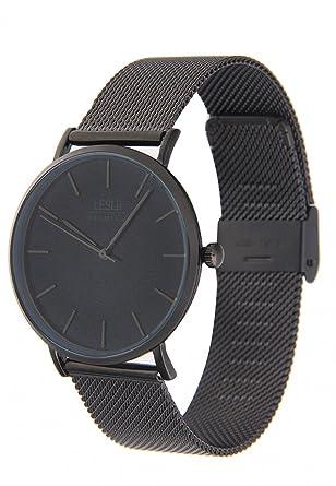 Uhr Modern leslii premium edelstahl meshband schwarz damen und herren