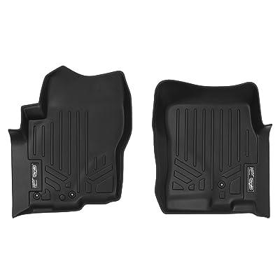 SMARTLINER Custom Fit Floor Mats 1st Row Liner Set Black for 2008-2020 Nissan Frontier with Dual Drivers Side Floor Posts: Automotive