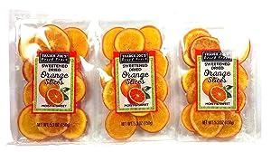 Trader Joe's Sweetened Dried Orange Slices 5.3 Oz, (Pack of 3)