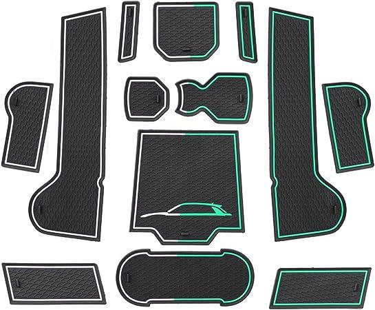 CDEFG Tappetino Antiscivolo per Ford Fiesta ST 2017-2020 Antipolvere Tappetini in Gommaper per Interni Auto Accessori