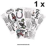 1 juego de tatuajes Full Amy Winehouse – 13 diseños en 4 tarjetas – Cosplay de carnaval (1)