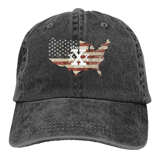 Straight Edge US Flag Denim Hats Adjustable Baseball Cap Dad Hats at Amazon  Men s Clothing store  8d375944cf2