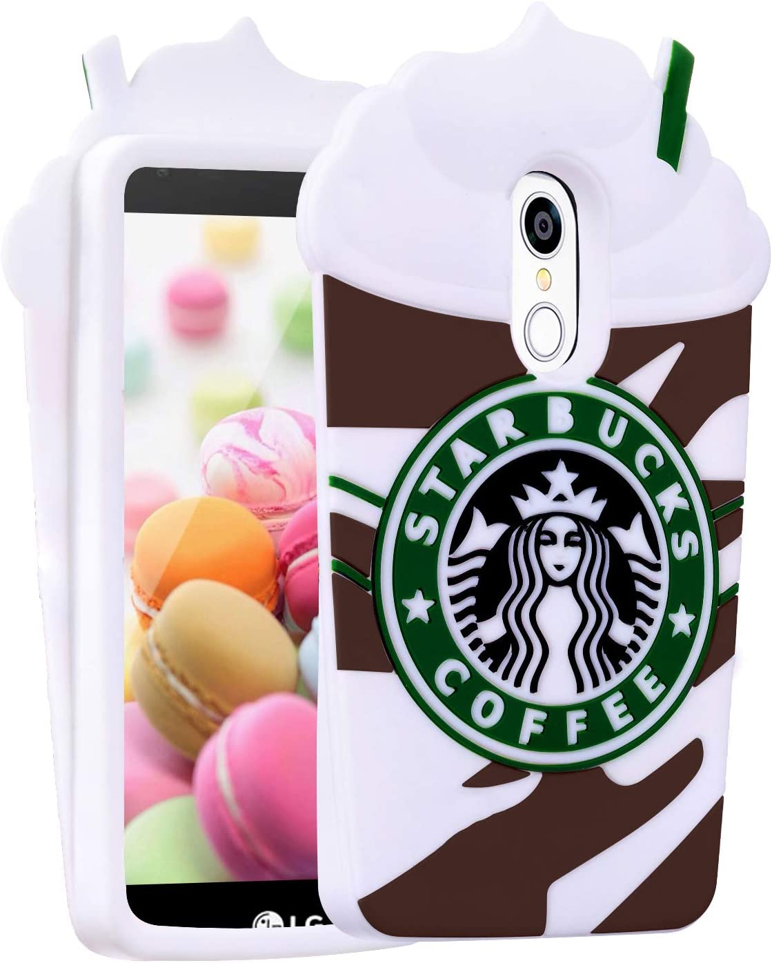 Artbling Case for LG Stylo 4/LG Q Stylus/LG Stylo 4 Plus/Stylus 4, 3D Cartoon Food Cover,Kids Girls Teens,Cute Kawaii Soft Silicone Character Funny Skin for LG Stylo4 Grey Coffee