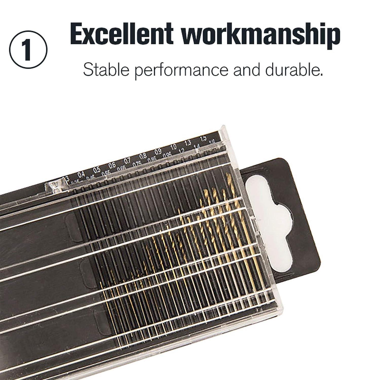 1.6/mm Mini micro de la tige de forets de forets DIY Kit outils /à main rotative /… Hoen 20/pcs 0.3