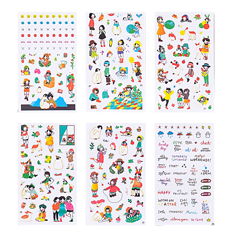 Christmas Sticker Collection Set of 1344+ PCS-Variety Sticker Pack-7 PVC Sticker Sheets Per Pack-Decorative Sticker Collection for Scrapbooking, Bullet Journals,Calendars, Arts, Kids DIY Craft, Album. by sinceroduct (Image #3)
