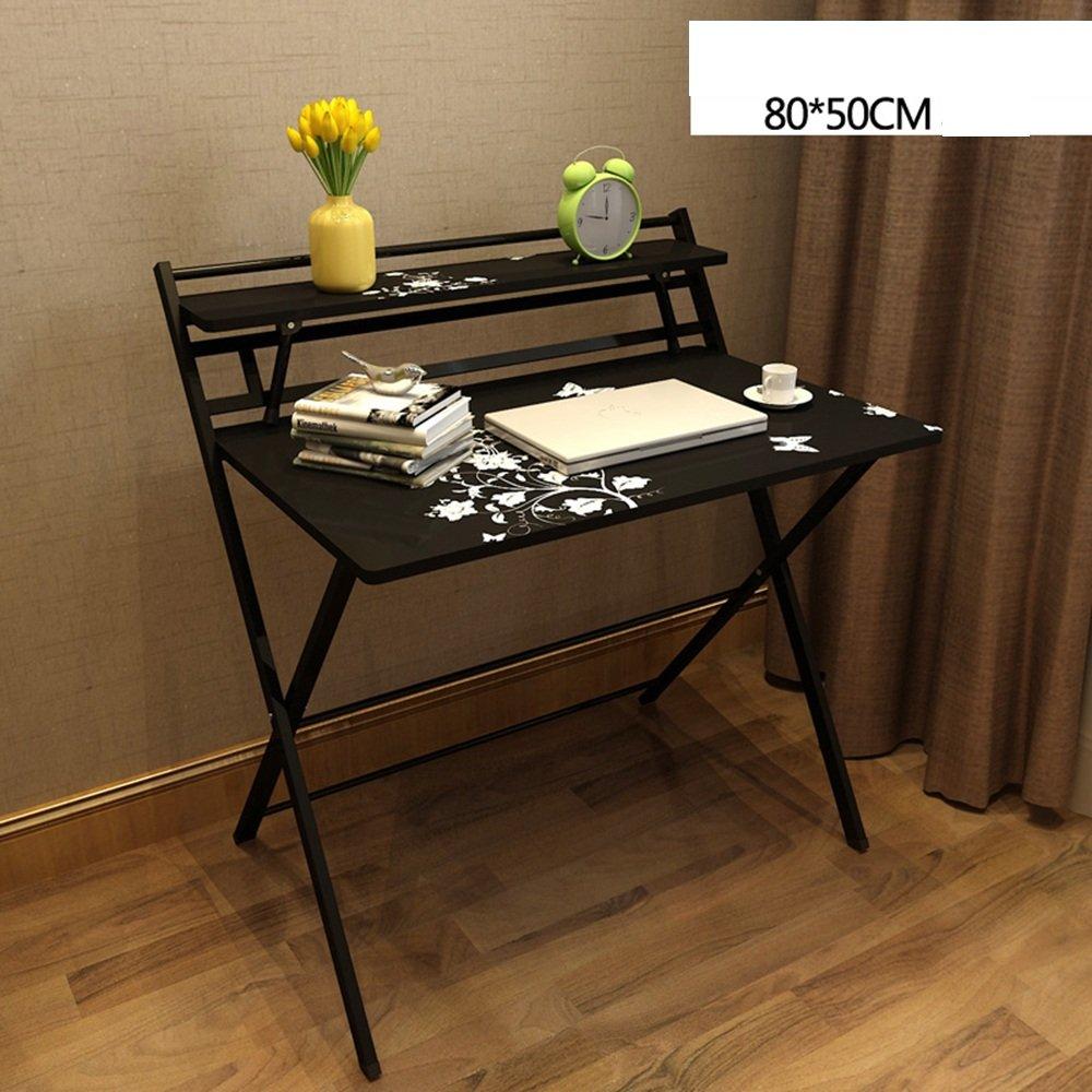 FEIFEI シンプルな折りたたみラップトップテーブル、スタディテーブルデスク、ダイニングテーブル、収納ラック、L80 x W50 * H 93 CM ( 色 : D ) B07C7YJQT4 D D