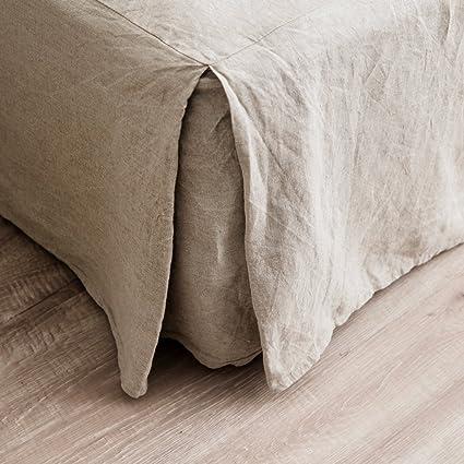 Linen Bed Skirt King.Merryfeel Luxurious 100 Pure French Linen Bed Skirt King