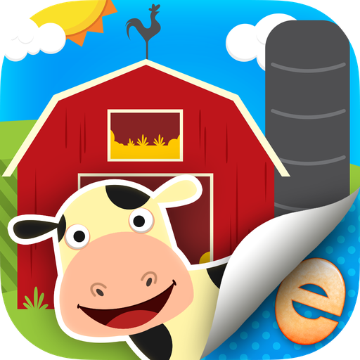 Animal Stickers for Kids Farm Activity Scene Builder