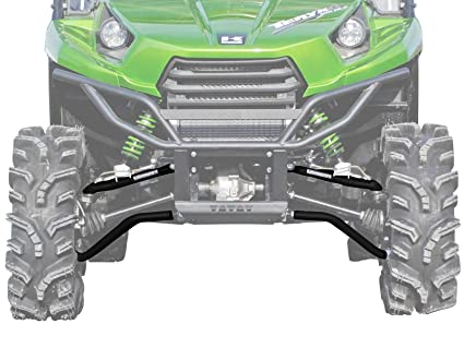 SuperATV High Clearance Forward Offset Front A-Arms for Kawasaki  Teryx/Teryx 4 (See Fitment) - Black