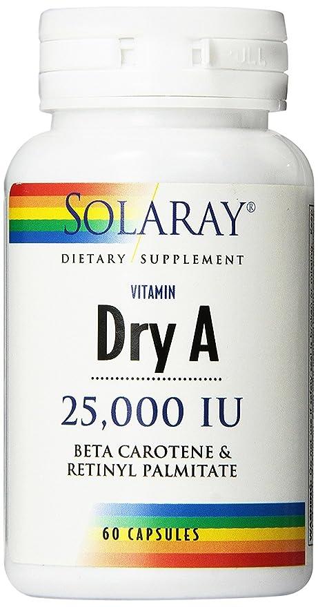 Vitamina Dry a 60 cápsulas de 25000 iu de Solaray