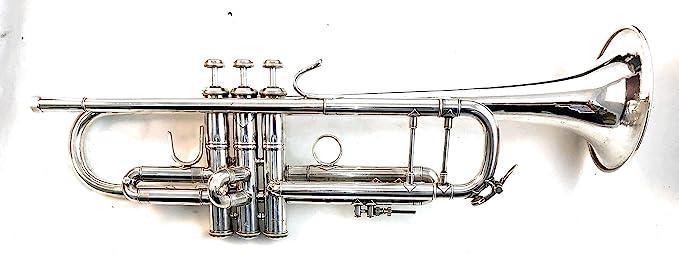 Vincent Bach Stradivarius Professional Trumpet Model LR190S43B - Silver Plated Finish
