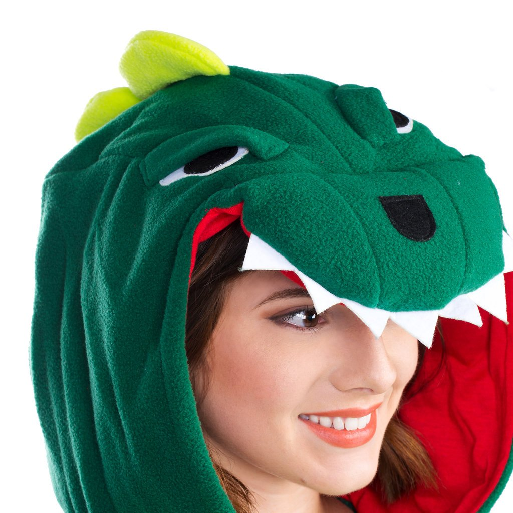 Emolly Fashion Adult Dinosaur Animal Onesie Costume Pajamas for Adults and Teens