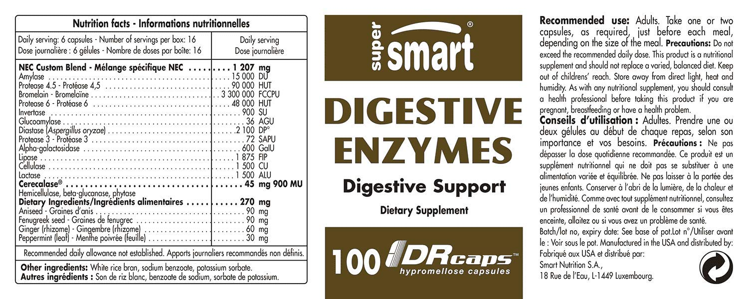 Supersmart - Gastro-Intestinal, Enzymes - Digestive Enzymes - Volume ...