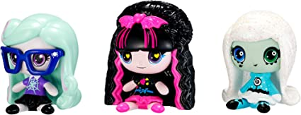 Monster High MINIS 3 Pack - Twyla Draculaura Frankie Stein Season ...