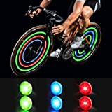 MapleSeeker Bike Wheel Lights Bike Spoke Lights with Batteries Included, Waterproof Bicycle Wheel Lights for Safe Cycling, Ea