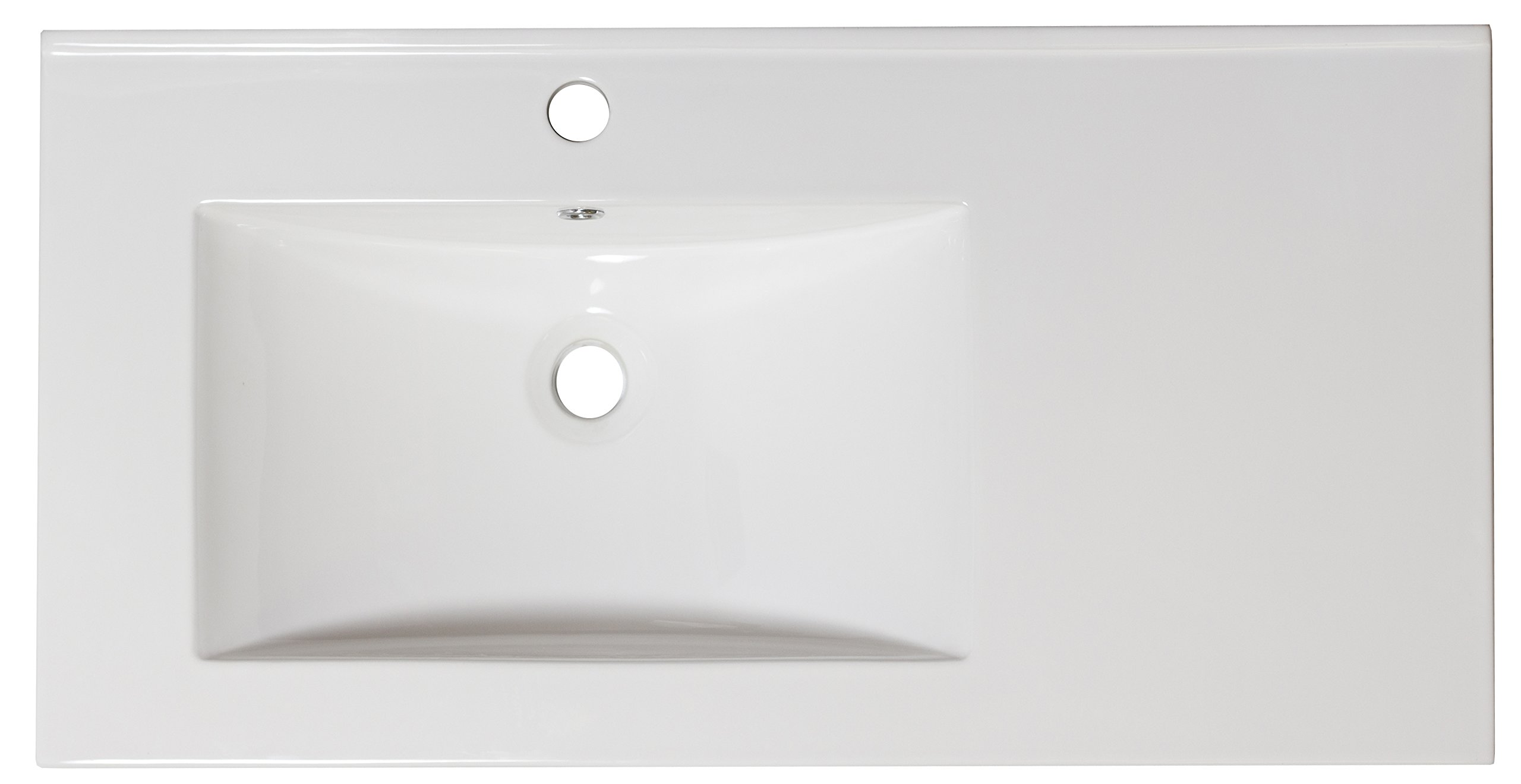 36-in. W x 18.5-in. D Ceramic Top In White Color For Single Hole Faucet by American Imaginations