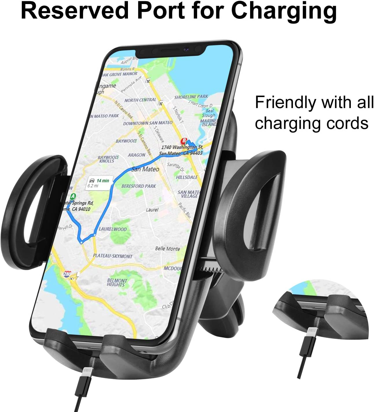 Note 20 Ultra 10 9 Takfox Car Phone Mount for Samsung Galaxy S20 Ultra S20 Plus S10+ S9 S8 S7 J7 J3 A01 A11 A21 A51 A71 A10e A20 A50 Stylo 6,K51,K31 Cell Phone Air Vent Car Mount Phone Holder-Black