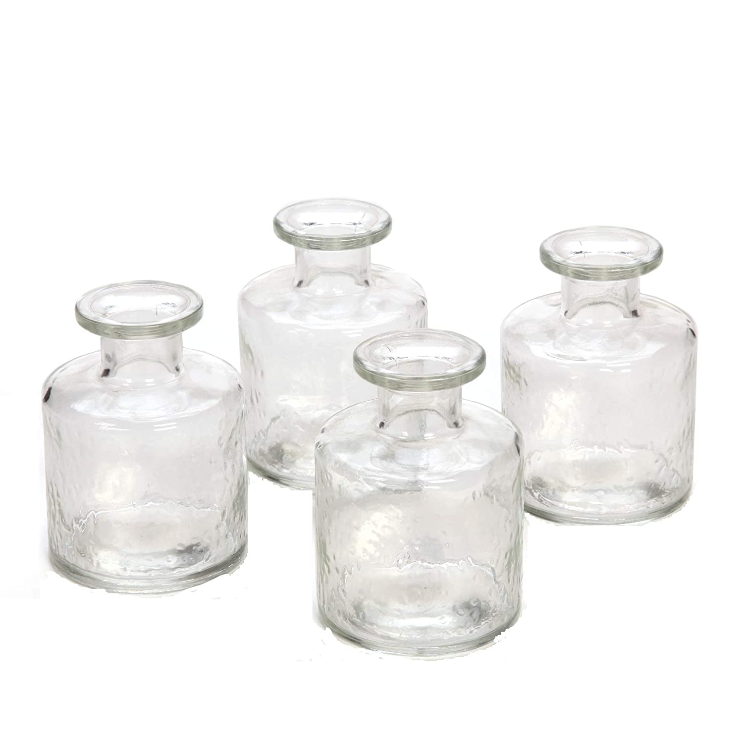 Hosley's Set of 4 Glass Diffuser Bottles - 100ml. Ideal Gift for Wedding, Party, Use with Essential Oils, Hosley Replacement Diffusers & Reed Sticks, Diy, Crafts, Spa O4 B017O30A8C
