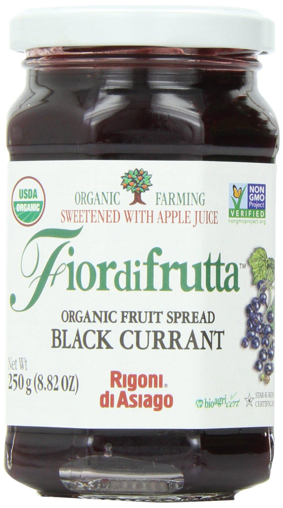 Rigoni Di Asiago Fiordifrutta Organic Fruit Spread, Black Currant, 8.82 Ounce by Rigoni di Asiago