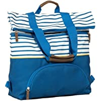 Love Taza Womens 2-in-1 Tote Backpack (Navy/White)