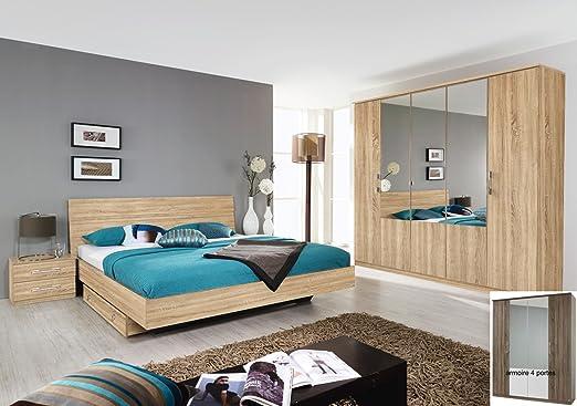 Matelpro-Chambre à coucher complète contemporaine chêne ...