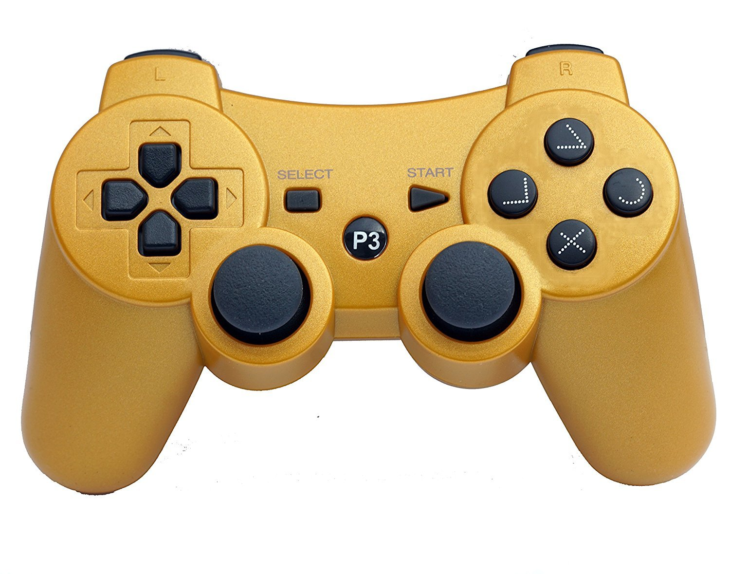 PS3 Wireless Remote Controller GamePad for use Compatible with Playstation 3 PS3 (Gold)