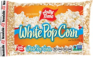 product image for Jolly Time White Popcorn Kernels | Bulk Bags Of Tender Non- GMO & Gluten Free Gourmet Popping Corn, 2 Lb. Bags (Pack Of 12)