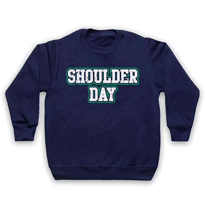 Shoulder Day Bodybuilding Workout Slogan Niños Sudadera: Amazon.es: Ropa y accesorios