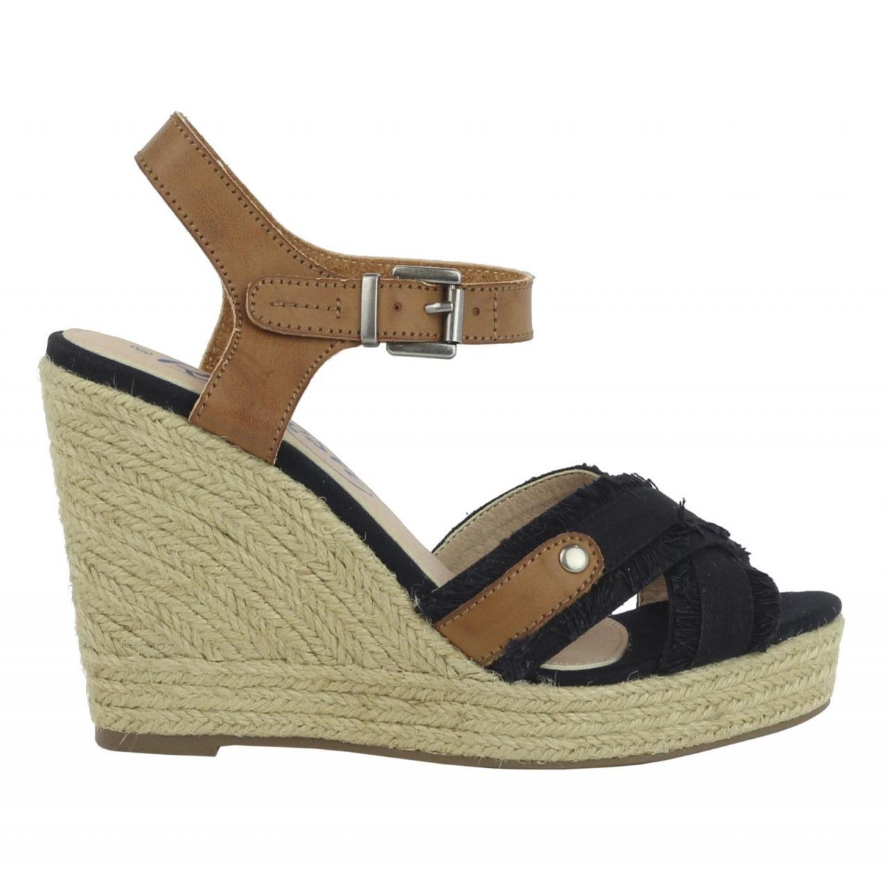 Refresh Schuhe Keilabsatz für Damen 61746 LONC schwarz