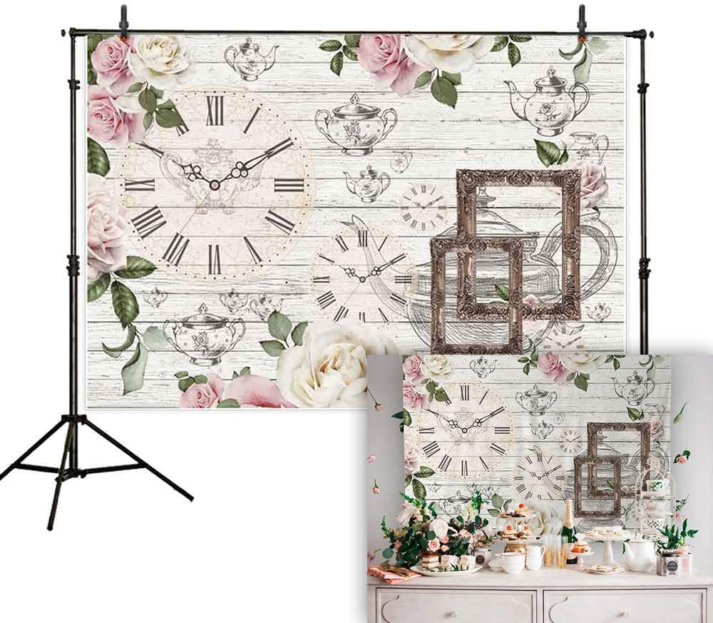 Amazon Com Allenjoy 7x5ft Afternoon Tea Rustic Floral Backdrop