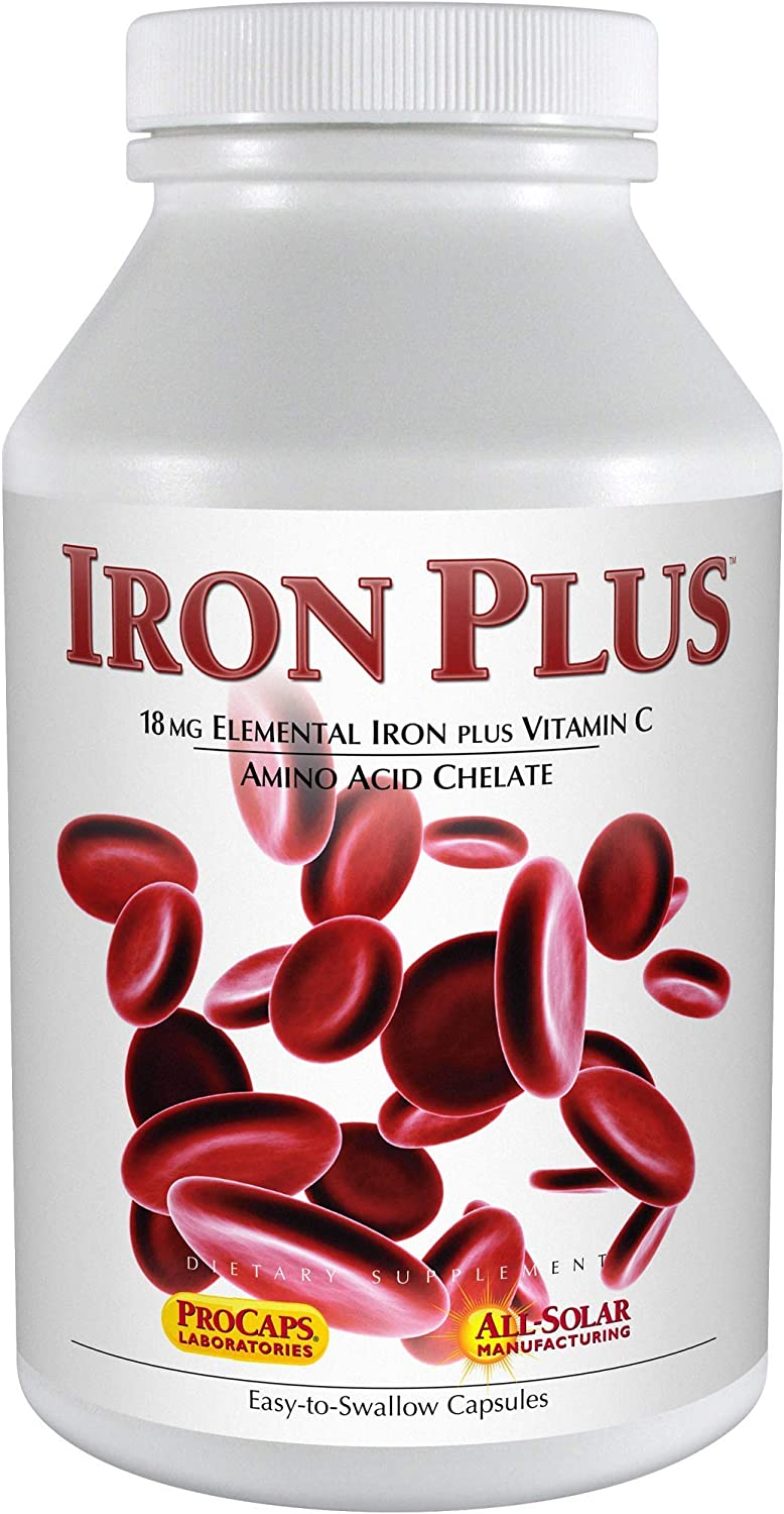 Andrew Lessman Iron Plus 360 Capsules – 18mg Iron, 100% Pure Amino Acid Chelated Iron (Glycinate & Aspartate), Plus Vitamin C for Increased Absorption, Small, Easy to Swallow Capsules, No Additives