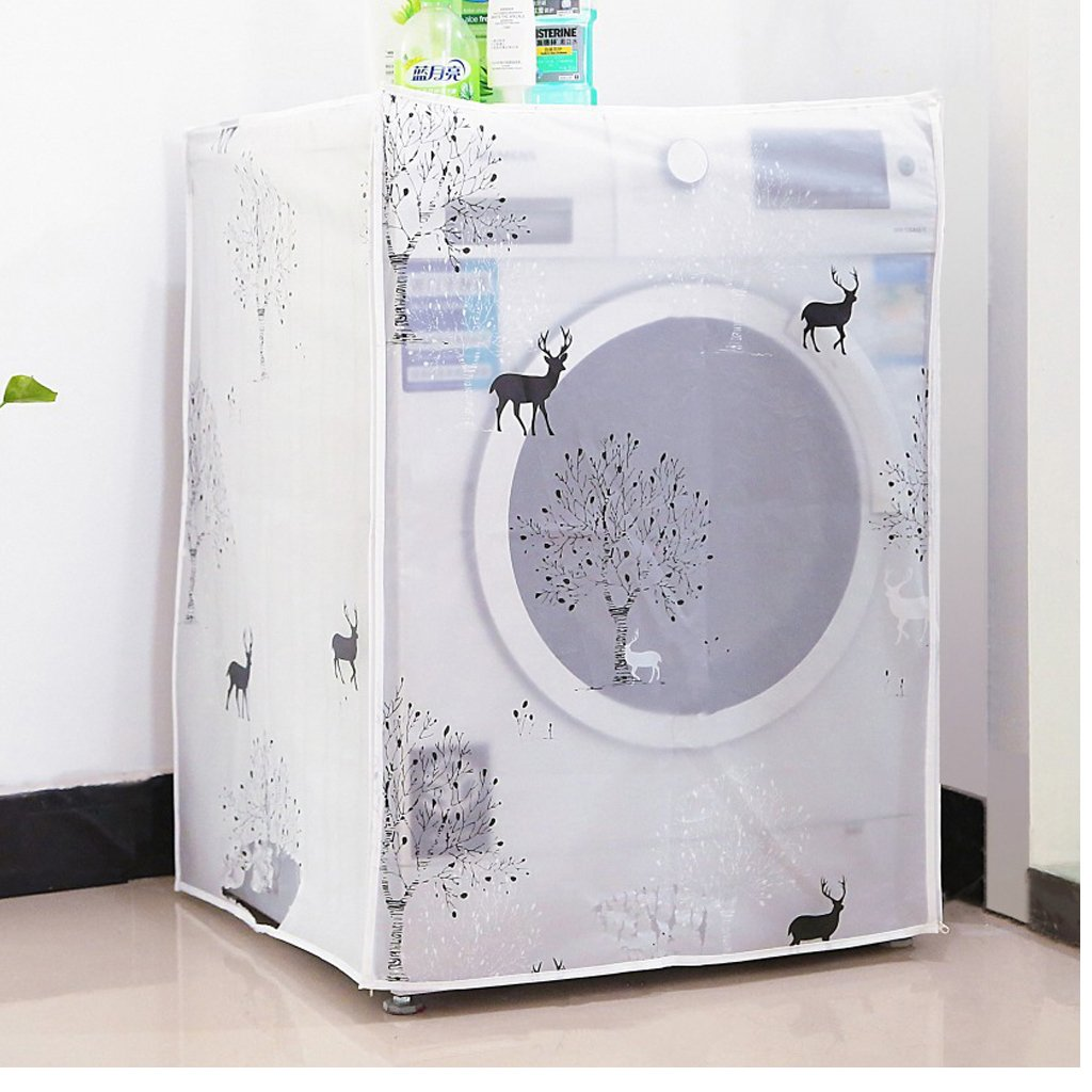 Xuniu Waterproof Roller Washing Machine Top Covers Zippered Drum Washer Dust Guard Dryer Dustproof Protector 56x60x83cm