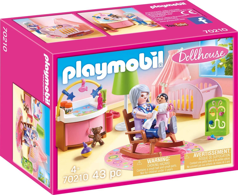 PLAYMOBIL PLAYMOBIL-70210 Dollhouse Habitación del Bebé, Multicolor, Talla única (70210)