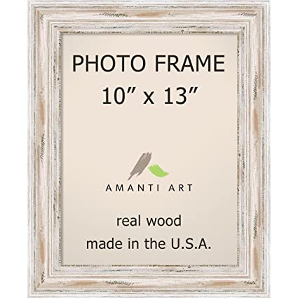 Amazon.com - Amanti Art Picture Frame, 10x13 Alexandria White Wash ...