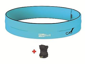 FlipBelt TM Cinto Tubular + UP®-Paño Funcional (Running Viajes Recreativos Senderismo Ciclismo Gimnasio Viajando Mosquetón)