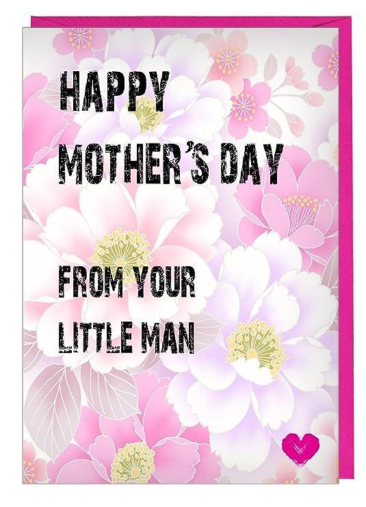 Happy de la madre día, de tu pequeño hombre - tarjeta ...