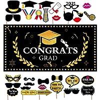 YuChiSX Banner de Graduacion Decoracion Colgante, Decoración de Fiesta de Graduación 2021, Congratulations Temática…