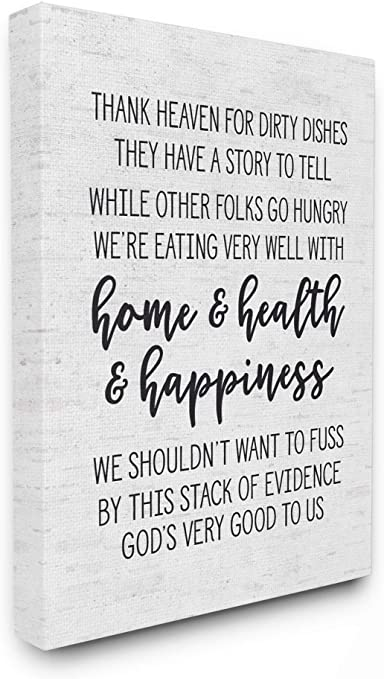 Amazon Com The Stupell Home Décor Collection Home Health Happiness Subtle Birch Typography Stretched Canvas Wall Art 16 X 20 Multi Color Posters Prints