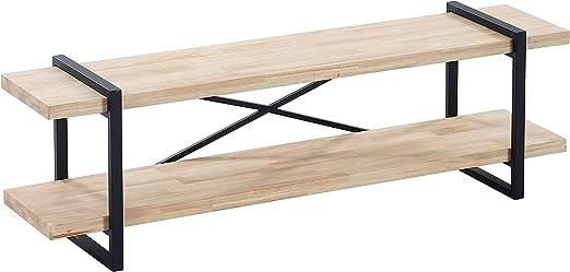 Adec - Plank, Mueble TV con 3 estantes Acabado en Roble Salvaje y ...