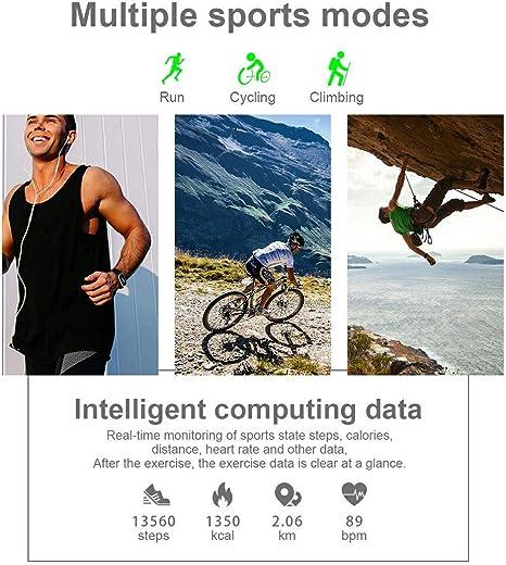 Knowin Smartwatch Fitness Reloj T1 Mujeres saturación de oxígeno ...