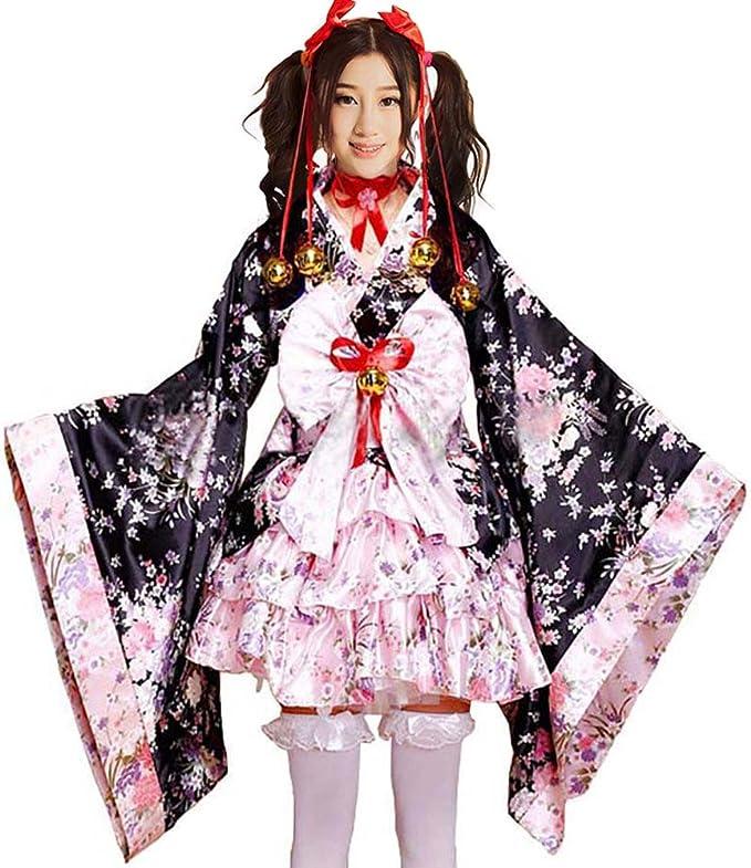 Amazon.com: Sexy Geisha Kimono Robe Mujeres adultas blanco ...