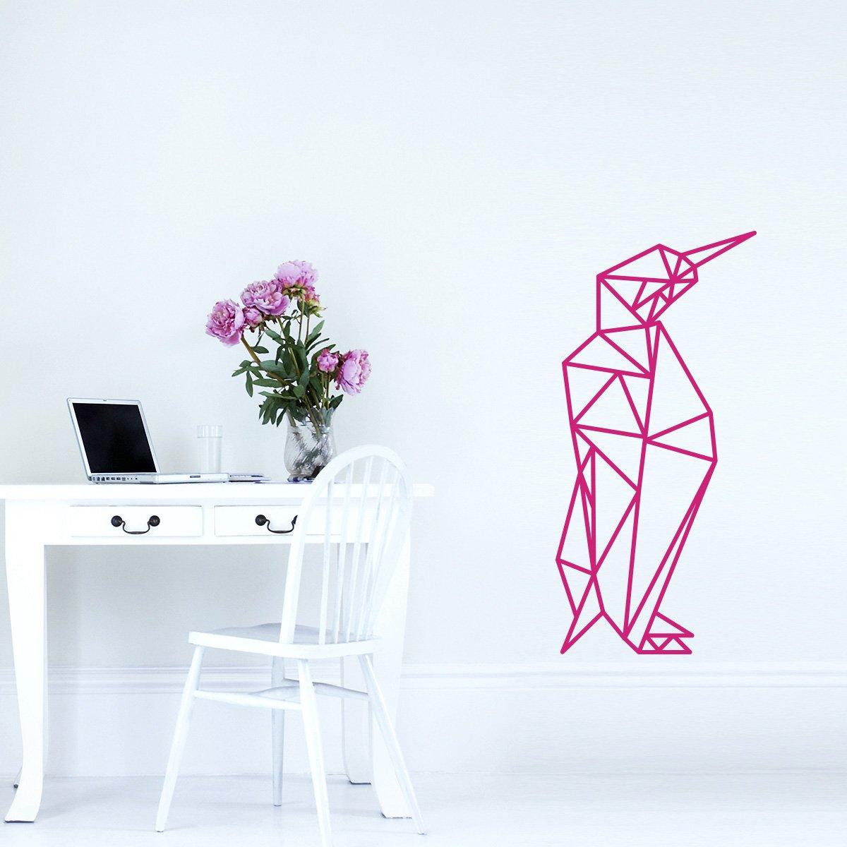 WANDKINGS Wandtattoo - Origami-Style Pinguin - 52 x 110 110 110 cm - HellRosa - Wähle aus 5 Größen & 35 Farben B07BS26N8Q Wandsticker & Wandfiguren 4a5a85